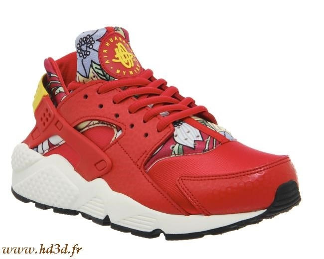 sneakers for cheap 63c9b 65684 Nike Huarache Montant Rouge