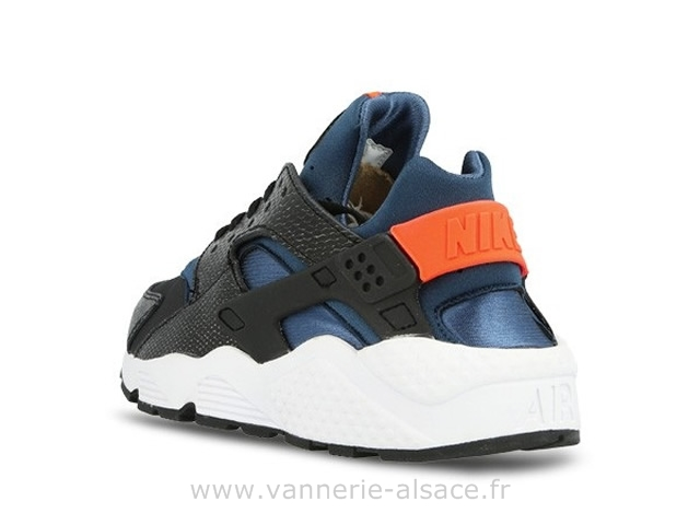 Huarache Noir Bleu Orange