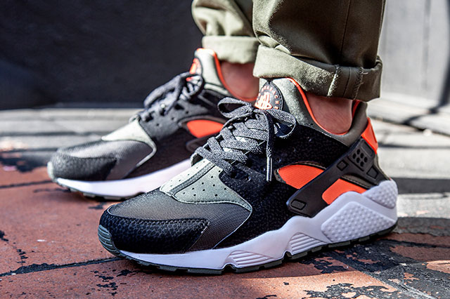Nike Huarache Noir Et Orange