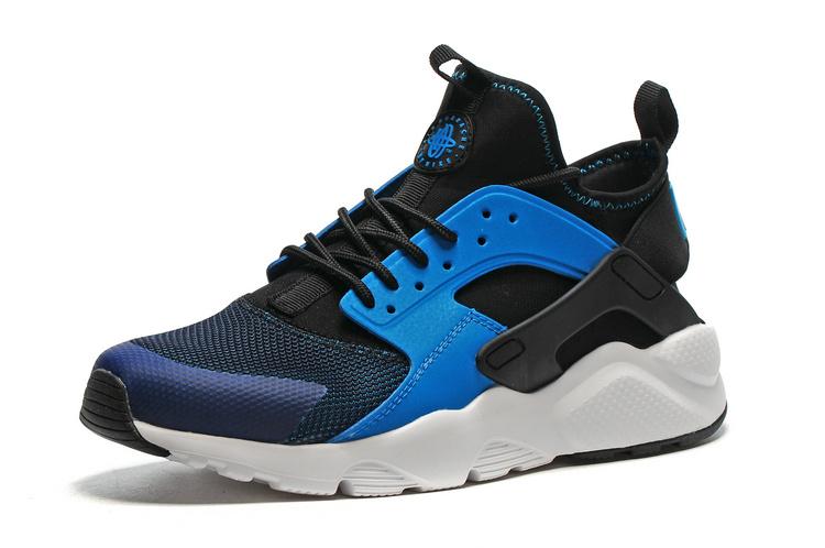 Nike Huarache Blanche Et Noir Pas Cher