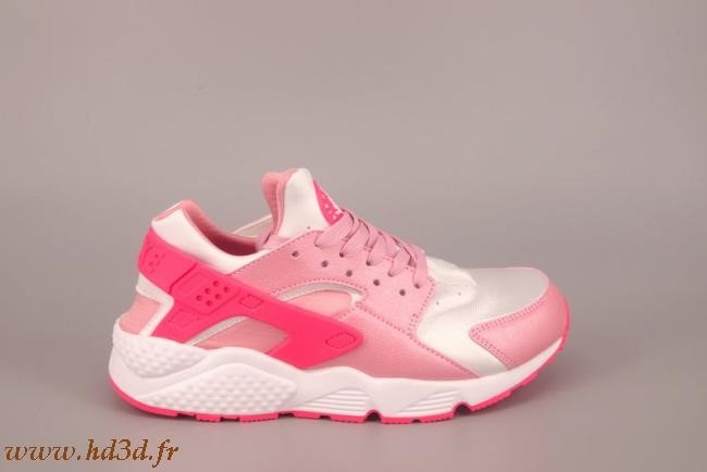 details for running shoes purchase cheap Nike Huarache Femme Grise Rose hd3d.fr