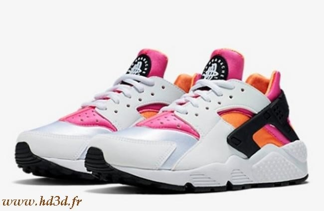 Huarache Blanche Rose Orange